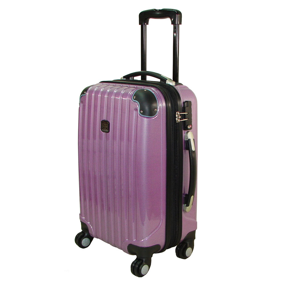 【BATOLON寶龍】20+24吋 時尚網眼格TSA鎖加大PC輕硬殼箱/旅行箱/拉桿箱/行李箱