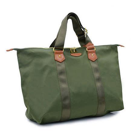 DF Queenin日韓 - 日本熱銷款輕量尼龍2用式手提包-綠色