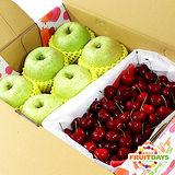 【鮮果日誌】平安禮讚櫻桃禮盒(日本王林蘋果6入+櫻桃2.5台斤)
