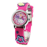 Hello Kitty 歡樂星球立體俏麗腕錶-桃紅