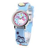 Hello Kitty 歡樂星球立體俏麗腕錶-粉藍