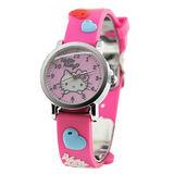 Hello Kitty 愛戀滿分立體俏麗腕錶-桃紅