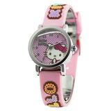 Hello Kitty 快樂原點立體俏麗腕錶-粉紅