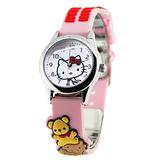 Hello Kitty 親親小熊立體俏麗腕錶-粉紅