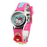 Hello Kitty 亮麗淑女立體俏麗腕錶-綠x桃紅