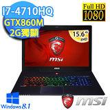 MSI微星 GS60 2PC(Ghost)-488TW 15.6吋 i7-4710HQ GTX860M 2G獨顯 頂尖四核電玩筆電(BB747116G1T0DX81M)