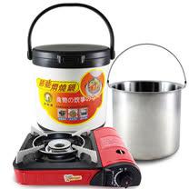 【鵝頭牌】節能斷熱燜燒鍋4.7L(CI-5000C)+【卡旺】111攜帶式瓦斯爐(K1-111V)
