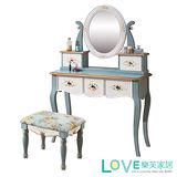 【LOVE樂芙】維多利亞-歐式3尺鏡台/含椅