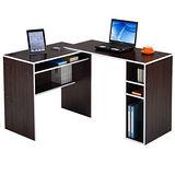 邏爵家具-伸縮轉角電腦桌/書桌/L型桌
