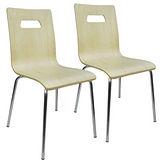 邏爵 般若2入曲木餐椅/事務椅/電腦椅(兩色)