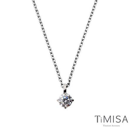 【TiMISA】永恆之心(7色可選) 純鈦項鍊(E)