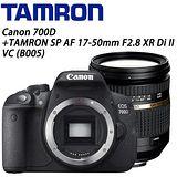 《CANON+TAMRON》EOS 700D BODY + TAMRON SP AF 17-50mm F2.8 XR Di IIVC B005(公司貨)★送32G高速記憶卡豪華大全配