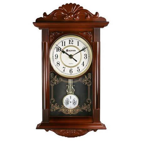 【KINYO】歐式復古鐘擺掛鐘(CL-142)