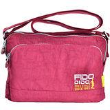 【Fido Dido】多層次好收納 斜背/肩背休閒包 酒紅色(FD1409-2)