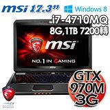 MSI 微星 GT70 2QD i7 GTX970M 獨顯3G 1TB Win8.1 17.3吋電競筆電