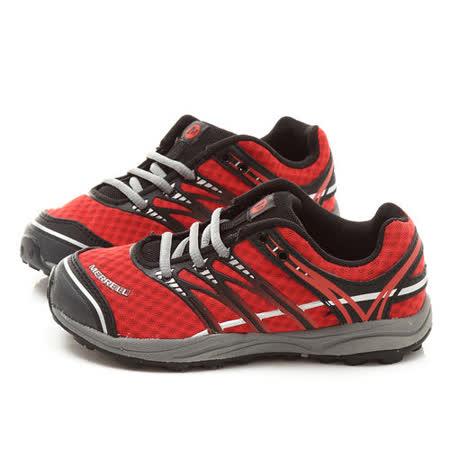 Merrell 中大童 多功能戶外運動鞋ML595489-紅黑