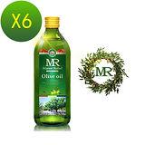 【天良生技嚴選】西班牙拉斐爾莊園超值頂級橄欖油組(1000mlx6瓶)