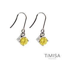 【TiMISA】純淨光芒-活力黃 純鈦耳環一對