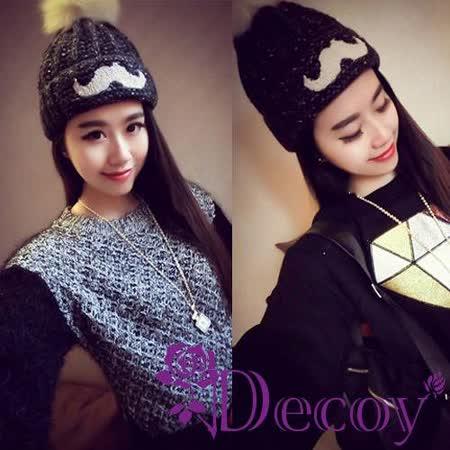 【Decoy】伯爵鬍子*加厚毛線帽/三色可選