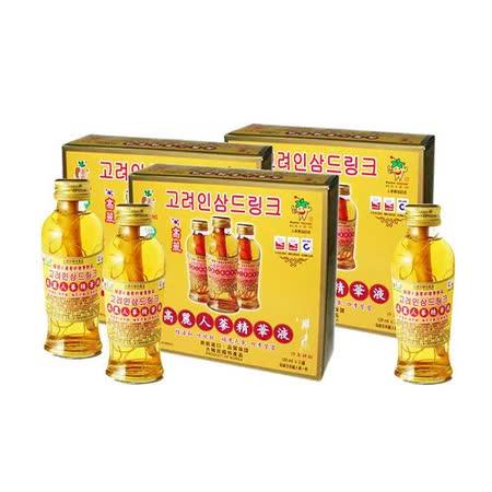 金蔘-韓國高麗人蔘精華液(120ml*3瓶 共1盒)