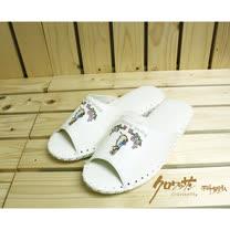 【クロワッサン科羅沙】Peter Rabbit 室內鞋 花園皮拖 白 25CM