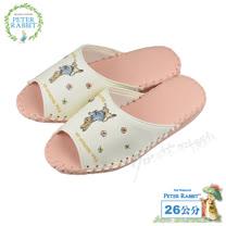 【クロワッサン科羅沙】Peter Rabbit 室內鞋 小花皮拖粉 24CM