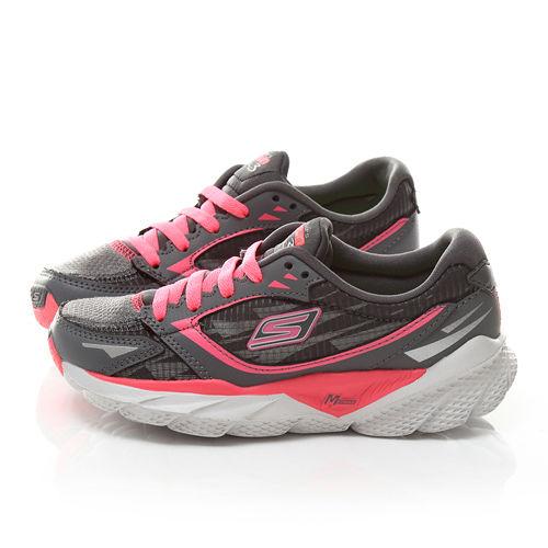 SKECHERS 大童 輕量運動鞋80635LCCHP-灰粉