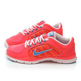 NIKE女款 FLEX TRAINER 輕量慢跑鞋643083604-橘紅