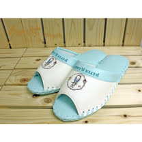 【クロワッサン科羅沙】Peter Rabbit 室內鞋 彩環皮拖 藍26CM