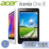 Acer 宏碁 Iconia One 8 16GB WIFI版 (B1-810) 8吋 IPS四核平板電腦(純真白/午夜黑)【加送8G記憶卡+雙面質感保護套+糖果耳機+平板支架+萬用巾】