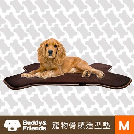 【Buddy&Friends】寵物骨頭造型墊(深咖啡/M)