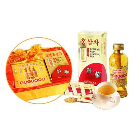 金蔘 紅蔘茶包30入/盒+紅蔘糖90gX2盒+人蔘精華液3入/盒(伴手禮盒組)