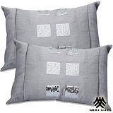 《M.B.H─巴洛密碼》仿絲亮片腰枕(銀)(2入)