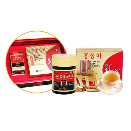 金蔘-高麗紅蔘精50g/罐+紅蔘茶包50入/盒(伴手禮盒組)