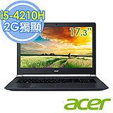 Acer VN7-791G-53XP 15.6吋 i5-4210H 2G獨顯FHD進化輕薄電競筆電-加贈ACER無線滑鼠 三合一清潔組