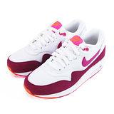 (女)NIKE WMNS AIR MAX 1 ESSENTIAL 休閒鞋 白/桃紅-599820112