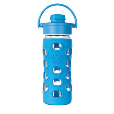 美國唯樂Lifefactory 繽紛彩色玻璃水瓶-吸嘴350ml淺藍 LF284006