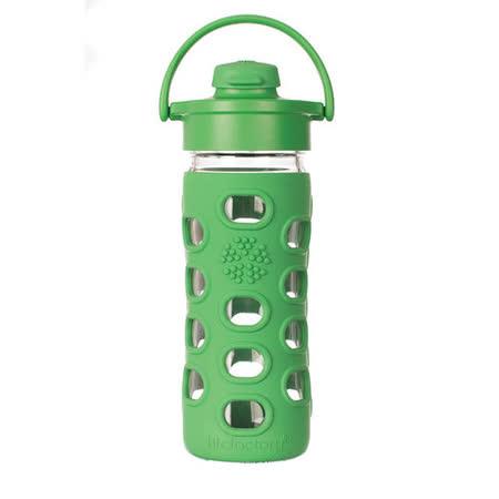 美國唯樂Lifefactory 繽紛彩色玻璃水瓶-吸嘴350ml草綠 LF284007