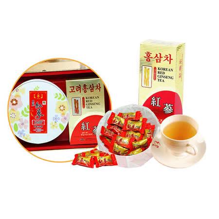 金蔘 高麗紅蔘茶包30入/盒+紅蔘糖200g/盒(伴手禮盒組)