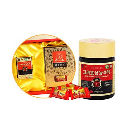 金蔘 高麗紅蔘精50g/罐+紅蔘糖200g/盒(伴手禮盒組)