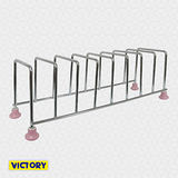 【VICTORY】陶瓷不鏽鋼8格餐盤架