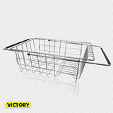 【VICTORY】不鏽鋼大容量伸縮碗盤瀝水架