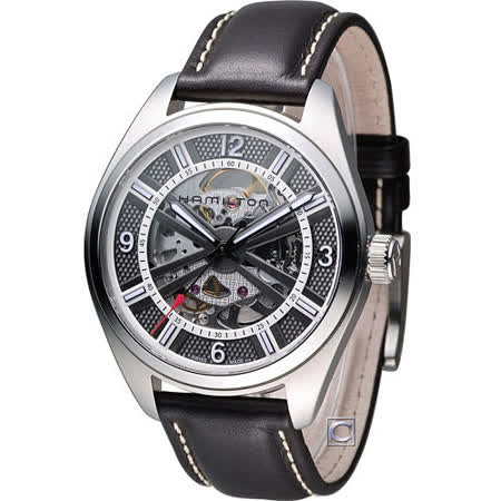 HAMILTON 卡其鏤空野戰機械腕錶 H72515585