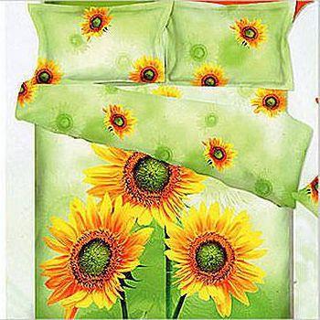 名流寢飾 法萊絨薄被床包組-欣欣向葵 雙人加大6*6.2尺