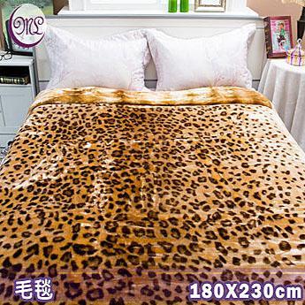 名流寢飾 尊貴豹點超柔長金貂毛毯 180*230cm