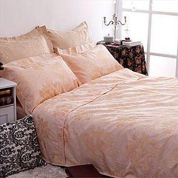 名流寢飾 精梳棉緹花兩用被床包組-鸞鳳和鳴 雙人5*6.2尺