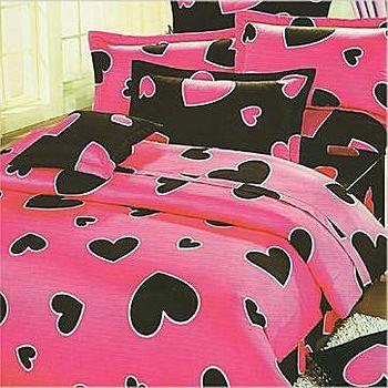 名流寢飾 精梳棉兩用被床包組-甜蜜心跳 雙人5*6.2尺