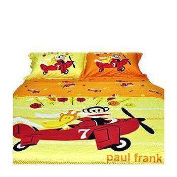 名流寢飾 Paul Frank大嘴猴兩用被床包組 雙人5*6.2尺