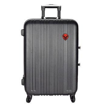 經典線條鋁框行李箱20吋-黑