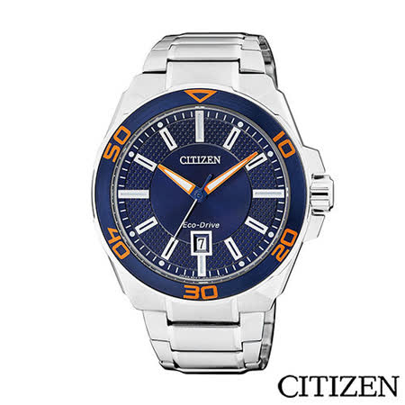 CITIZEN 星辰 夢幻新時代時尚潮流光動能腕錶-藍 AW1191-51L